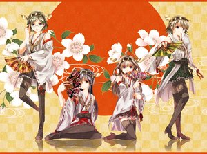 Rating: Safe Score: 93 Tags: anthropomorphism black_hair blue_eyes boots bow brown_eyes brown_hair fan flowers glasses group haruna_(kancolle) headband hiei_(kancolle) iroha_(shiki) japanese_clothes kantai_collection kirishima_(kancolle) kongou_(kancolle) long_hair miko pantyhose short_hair skirt thighhighs User: Flandre93