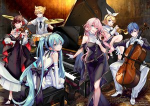 Rating: Safe Score: 33 Tags: blonde_hair blue_hair blush brown_hair dress flute gloves green_eyes green_hair group hatsune_miku headband instrument kagamine_len kagamine_rin kaito long_hair male megurine_luka meiko piano pink_hair pisuke tie twintails violin vocaloid wink User: BattlequeenYume