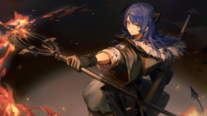 Rating: Safe Score: 28 Tags: arknights blue_eyes blue_hair fire game_cg gloves horns huanxiang_heitu long_hair mostima_(arknights) staff tail User: Nepcoheart
