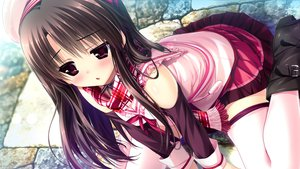 Rating: Safe Score: 317 Tags: blush boots clochette game_cg hat kugayama_konoka long_hair prism_recollection scarf school_uniform shintaro thighhighs User: opai