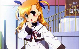 Rating: Safe Score: 41 Tags: bicolored_eyes blonde_hair blush long_hair mahou_shoujo_lyrical_nanoha mahou_shoujo_lyrical_nanoha_strikers school_uniform takamachi_vivio twintails User: Oyashiro-sama