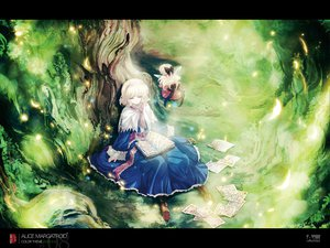 Rating: Safe Score: 80 Tags: alice_margatroid blonde_hair book doll dress hourai ribbons short_hair sleeping tokiame touhou wings User: grudzioh