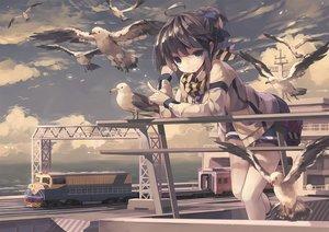 Rating: Safe Score: 132 Tags: animal bird black_hair china_railway_girl clouds green_eyes nodata ponytail scarf shorts sky socks User: Flandre93