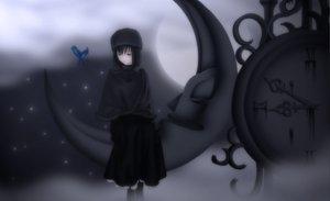 Rating: Safe Score: 55 Tags: animal bird kuonji_alice mahou_tsukai_no_yoru moon night stars User: Destroying