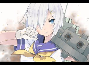 Rating: Safe Score: 140 Tags: anthropomorphism aqua_eyes gloves gomashi_(goma) gray_hair hamakaze_(kancolle) kantai_collection school_uniform short_hair User: FormX
