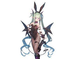 Rating: Safe Score: 73 Tags: animal_ears bunny_ears demon dio_uryyy gloves green_hair headband long_hair original photoshop pointed_ears purple_eyes sketch succubus tail twintails white wings User: BattlequeenYume