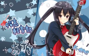 Rating: Safe Score: 53 Tags: blush guitar instrument k-on! nakano_azusa school_uniform twintails User: mikankun