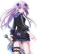 Rating: Safe Score: 74 Tags: adult_neptune blush dress garter hoodie hyperdimension_neptunia kazenokaze long_hair neptune purple_eyes purple_hair sword weapon white User: luckyluna