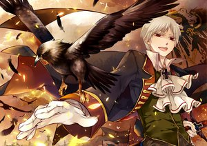 Rating: Safe Score: 33 Tags: all_male animal anthropomorphism axis_powers_hetalia bird male prussia_(hetalia) uniform User: w7382001