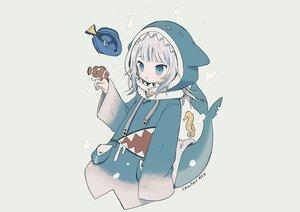 Rating: Safe Score: 28 Tags: aliasing animal ayu_(mog) blue_eyes bubbles fish gawr_gura gray gray_hair hololive hoodie short_hair signed sketch tail underwater water User: otaku_emmy