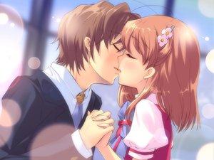 Rating: Safe Score: 73 Tags: flyable_heart game_cg inaba_yui itou_noiji katsuragi_syo kiss school_uniform User: Xtea