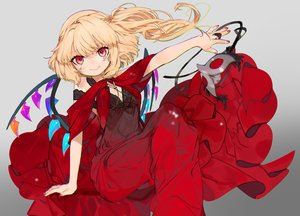 Rating: Safe Score: 69 Tags: blonde_hair dress flandre_scarlet gotoh510 gradient mask ponytail red_eyes signed touhou vampire wings User: sadodere-chan