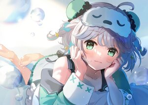 Rating: Safe Score: 70 Tags: barefoot blush braids dress gray_hair nemumi_suu tasuku_(otomebotan) User: BattlequeenYume