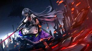 Rating: Safe Score: 33 Tags: blue_hair dress hinanawi_tenshi long_hair red_eyes ryosios sword touhou weapon User: RyuZU