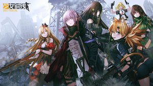 Rating: Safe Score: 93 Tags: animal_ears anthropomorphism ar-15_(girls_frontline) blonde_hair blue_eyes brown_hair fn-49_(girls_frontline) girls_frontline gloves green_eyes group gun hat idw_(girls_frontline) infukun jpeg_artifacts long_hair m1911_(girls_frontline) m4a1_(girls_frontline) pantyhose pink_hair ponytail purple_eyes red_eyes ruins short_hair shorts tail twintails type_64_(girls_frontline) weapon User: BattlequeenYume