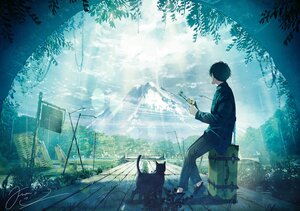 Rating: Safe Score: 34 Tags: all_male animal cat fusui male original polychromatic scenic signed User: FormX