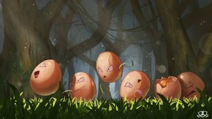 Rating: Safe Score: 15 Tags: exeggcute forest grass group nobody pokemon supearibu tree watermark User: otaku_emmy