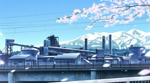 Rating: Safe Score: 17 Tags: building cherry_blossoms flowers gensuke industrial nobody original petals scenic sky User: otaku_emmy