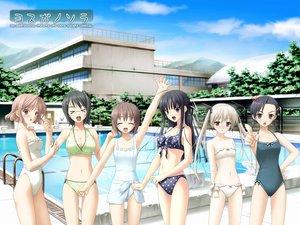 Rating: Safe Score: 100 Tags: bikini kasugano_sora migiwa_kazuha pool swimsuit tagme yorihime_nao yosuga_no_sora User: rargy