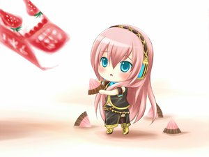 Rating: Safe Score: 59 Tags: aqua_eyes boots chibi headphones long_hair megurine_luka pink_hair thighhighs vocaloid User: w7382001