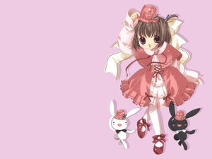 Rating: Safe Score: 3 Tags: animal bindume_yousei bottle_fairy magi-cu pink rabbit tama-chan tokumi_yuiko User: Oyashiro-sama