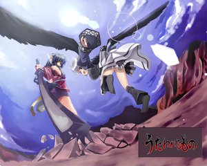 Rating: Safe Score: 14 Tags: kamyu karura tail utawarerumono wings User: Oyashiro-sama