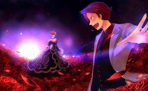 Rating: Safe Score: 10 Tags: beatrice flowers male night petals rose umineko_no_naku_koro_ni ushiromiya_battler User: 秀悟