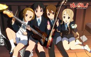Rating: Safe Score: 41 Tags: akiyama_mio food guitar hirasawa_yui instrument k-on! kotobuki_tsumugi pantyhose pocky school_uniform tainaka_ritsu User: HawthorneKitty