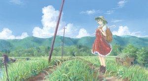 Rating: Safe Score: 71 Tags: boots flowers grass green_hair hat kazami_yuuka miso_pan red_eyes short_hair skirt sky sunflower touhou tree umbrella User: C4R10Z123GT