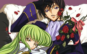 Rating: Safe Score: 21 Tags: cc code_geass flowers lelouch_lamperouge male petals rose vector User: atlantiza