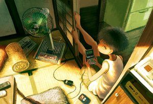 Rating: Safe Score: 11 Tags: all_male black_hair fan game_console male original sasakure_(mogunonbi) short_hair User: RyuZU