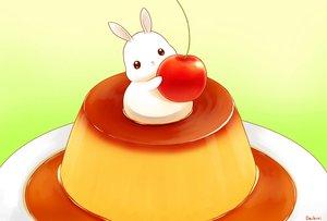 Rating: Safe Score: 46 Tags: animal cherry daikichi_(pixiv13506351) food fruit gradient original rabbit signed User: otaku_emmy