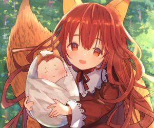 Rating: Safe Score: 47 Tags: animal_ears cropped foxgirl grass loli long_hair original red_eyes red_hair tail umika35 User: otaku_emmy