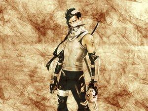 Rating: Safe Score: 3 Tags: all_male black_hair headband male mask momochi_zabuza naruto sword tattoo weapon User: Oyashiro-sama