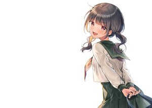 Rating: Safe Score: 48 Tags: black_hair blush brown_eyes fang midorikawa_you original school_uniform skirt twintails white User: otaku_emmy