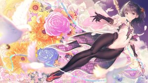 Rating: Safe Score: 107 Tags: aliasing animal bird elbow_gloves feathers flowers gloves leotard original pantyhose purple_eyes ribbons rose tonchan User: BattlequeenYume