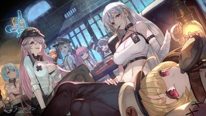 Rating: Safe Score: 74 Tags: anthropomorphism aqua_eyes aqua_hair azur_lane bandage black_hair blonde_hair breasts chapayev_(azur_lane) cleavage food gangut_(azur_lane) gloves gray_eyes gray_hair group grozny_(azur_lane) hat lack logo long_hair minsk_(azur_lane) navel pamiat_merkuria_(azur_lane) ponytail purple_eyes purple_hair red_eyes short_hair smoking sovetskaya_rossiya_(azur_lane) tashkent_(azur_lane) User: Nepcoheart