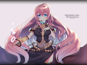 Rating: Safe Score: 51 Tags: blue_eyes breast_hold breasts kurisu_sai long_hair megurine_luka microphone navel pink_hair see_through skirt thighhighs vocaloid User: FormX