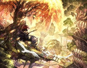 Rating: Safe Score: 110 Tags: 369minmin animal bird original scenic tree wolf User: Flandre93