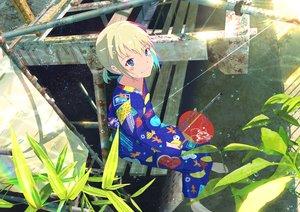 Rating: Safe Score: 39 Tags: barefoot blush fan japanese_clothes original yukata yukimachi_(yuki_no_city) User: FormX