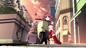 Rating: Safe Score: 2 Tags: animal_ears blue_eyes boots building catgirl christmas city flowers gloves kitsupon motorcycle original pink_hair santa_costume short_hair tree User: 秀悟