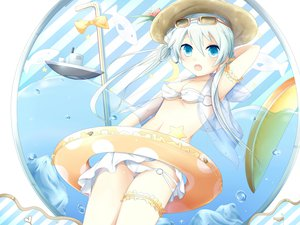 Rating: Safe Score: 86 Tags: bikini blue_eyes original sakakidani swimsuit tube User: Wiresetc