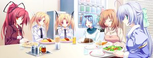 Rating: Safe Score: 7 Tags: alicia_infans blonde_hair blue_hair food game_cg green_eyes group koyuki_amagase kujou_yuuka long_hair magus_tale nina_geminis ponytail purple_hair red_eyes red_hair rena_geminis seera_finis_victoria short_hair tenmaso twintails whirlpool User: Oyashiro-sama