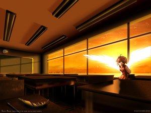 Rating: Safe Score: 9 Tags: angel brown_eyes brown_hair dress feathers original wings User: Oyashiro-sama