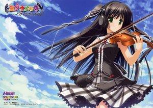 Rating: Safe Score: 29 Tags: headphones instrument minna_no_uta sakaki_maki skirt sky violin User: 秀悟