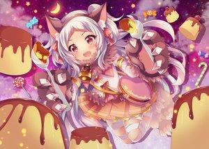 Rating: Safe Score: 39 Tags: animal_ears bandage blush candy fang food gloves headband ichiyou_moka izumo_miyako loli lollipop princess_connect! red_eyes signed skirt User: BattlequeenYume