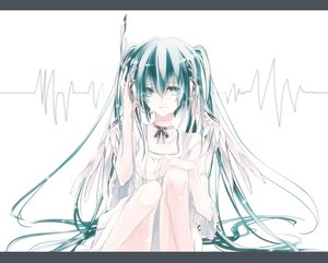 Rating: Safe Score: 47 Tags: hatsune_miku headphones twintails vocaloid white User: HawthorneKitty