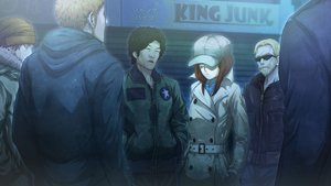 Rating: Safe Score: 30 Tags: amane_suzuha black_hair blonde_hair brown_hair game_cg glasses green_eyes group hat huke long_hair male steins;gate steins;gate_zero User: RyuZU