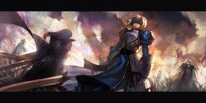 Rating: Safe Score: 239 Tags: armor artoria_pendragon_(all) bedivere blueman dress fate_(series) fate/stay_night fate/zero lancelot_(fate) saber sword weapon User: opai