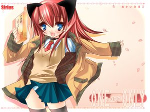 Rating: Safe Score: 29 Tags: animal_ears asai_mihoko bell blue_eyes candy catgirl collar one_and_only panties red_hair sirius skirt thighhighs tie underwear upskirt User: Oyashiro-sama
